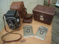 Rolleiflex New Standard Model 6x6 Film TLR Camera good condition, 2 cases