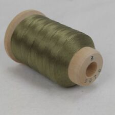 Vtg Belding Corticelli Pure Silk Thread Spool ~ Sz B ~ 520 Yds ~ #9076 Green