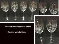 Rodeo Houston Wine Glasses Collectibles 2007 2005 2012 75th Anniversary Uncorked