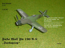 "Focke Wulf Fw 190 A-8 ""Turboprop""  1/72 Bird Models Umbausatz / resin conversion"