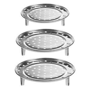 Kitchen Stainless Steel Heating Utensil Steamer Round Cooking Steam Rack MA