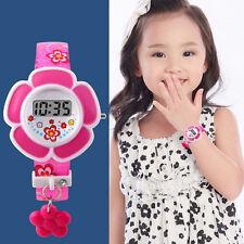 Children Girl Flower Digital Wrist Watch Cute Lovely for Kids LED Light Gift New