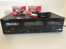 Pioneer Stereo Double Dual Cassette Deck Ct-W530R Bundle, Cord & Maxell Tapes!