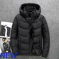 Overcoat Hooded Autumn Cotton Men's Jacket Outwear Coat Thicken Winter Parka