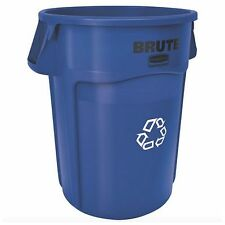 Rubbermaid Recycling Recycle Bin Waste Container Trash Garbage Can 32 Gallon New