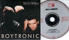 Boytronic  CD-SINGLE  DON'T LET ME DOWN  (c)  1988  EXTENDED EURO MIX