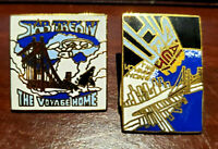 2 FOR 1 SALE! Vintage Star Trek Cloisonne Pin Set of 2-Star Trek IV Movie(27/32)