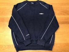 Vintage Umbro Mens Navy Blue Pullover Sweatshirt Jumper Top Sweater Size M