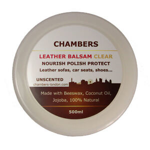 Chambers Leather Balsam Conditioner & Restorer for Sofas, car seats, boots, bags