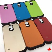 Samsung Galaxy S5 G900W8 Slim Hybrid Hard Armour Tough Shockproof Cover Case 5.1