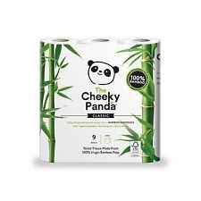 Cheeky Panda Bamboo Toilet Tissues 9 Rolls - 100% Virgin Bamboo Pulp