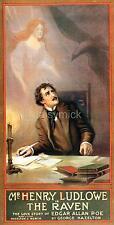Edgar Allen Poe 1908 The Raven George Hazelton Theatre 12x6 Inch Poster Reprint