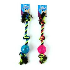 Dog Toy Rope w Ball 45cm Tough Quality Pet Toys Chew Chewing Heavy Duty Strong