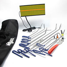 UK PDR Repair Hail Paintless Tool Removal Dent Hammer Puller Rods+LED Line Board