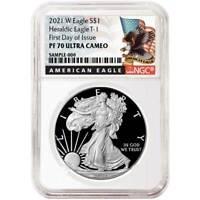 2021-W Proof $1 American Silver Eagle NGC PF70UC FDI Black Label