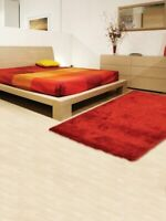 Contemporary Red Plush 5x8 Modern Shaggy Shag Oriental Area Rug 7' 6'' x 5' 5''