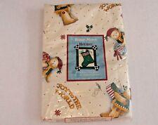 New Debbie Mumm Joy to the World Oblong 52 x 90 Vinyl Flannel Backed Tablecloth