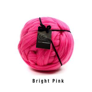 2kg Bright Pink Mammoth®   Giant Super Chunky Extreme Arm Knitting Big Yarn