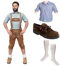 5-teiliges Trachtenset hell A Trachtenlederhose 46-60 Schuhe,Hemd,lange Socken