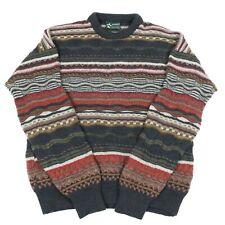 Vintage ANSETT Wool Cosby Jumper | Sweater Knit 90s Hip Hop Patterned 3D