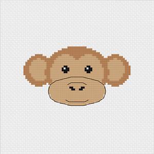 Monkey Mini Cross Stitch Kit by Meloca Designs