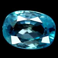 TOP ZIRCON : 3,99 Ct Natürlicher Blau Zirkon aus Kambodscha