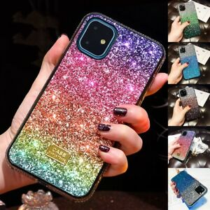 Retro Crystal Bling Glitter Sparkly Slim Case Cover For iphone 11 Pro Max Xs XR