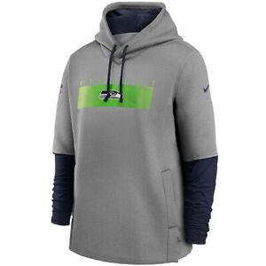 New NFL Seattle Seahawks Nike Sideline Playbook Performance Therma-FIT Hoodie