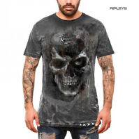 ALCHEMY Gothic Unisex T Shirt Grunge Distressed Skull 'Pole Axed Spray' All Size