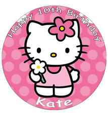 Hello Kitty Personalised Wafer Paper Topper For Large Cake Various Sizes 7.5""