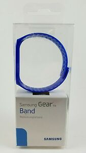 New Genuine Samsung OEM Blue Band Strap Replacement for Gear Fit Smartwatch