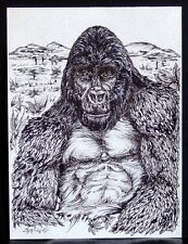 """MOUNTAIN GORILLA"": Wildlife art drawing, limited edition print.. NICE!"