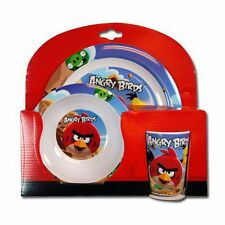 3pc Dining Feeding Gift Set Plate Bowl Cup Rovio Angry Birds NEW