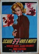 KILLER 777 ALIVE OR DEAD Italian 2F movie poster 39x55 EUROSPY MINO GUERRINI '66