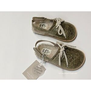 Zara Baby Toddler Girl Sparkly Lined Slingback Clogs  Size 6 US