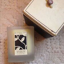 Bungalow No 9 Soy Candle Square Glass Jar with Faux Leather Box, Lead Free Wick