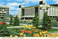Winnipeg Manitoba MB Centennial Centre Tulips Flowers Vintage Postcard D17