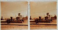 Porto per Identificare Stereo Amateur Targa Di Vetro Pos. 1935 Vintage