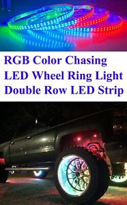 RGB Color Chasing LED Wheel Light Kit Double Row LED Smart Phone App Controlled