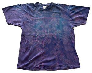 Vtg 90's Icarus Logo Winterland Led Zeppelin All Over Print Band T-Shirt XL