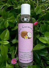 Organic Virgin Coconut Oil Pure-Cold Pressed 6oz. Plumeria Scent for Skin & Hair
