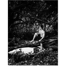 Paul Walker Seated on Tree Branch in Jungle by Surfboard 8 x 10 Inch Photo