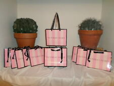 10 VICTORIAS SECRET PINK AND WHITE STRIPE GIVING BAGS SECRET LOVE