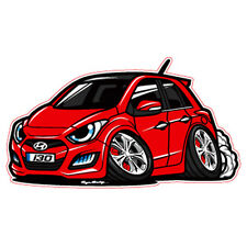 Character Sticker 6p 1set Tropic Red For 12 13 Hyundai Elantra GT : New i30