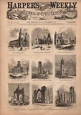 1871 Harpers Weekly November 11-Ruins of Chicago;France Vineyards;Yacht Race
