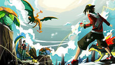 Pokemon Art - Wall Poster - Huge   - 15 in x 24 in - Fast Shipping
