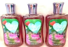 3 Bath & Body Works Love Love Love Shower Gel Shea Enriched, Aloe, Vitamin E