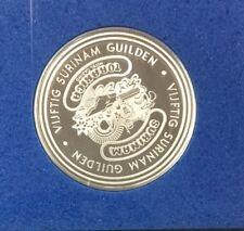Franklin Mint Torarica Casino Vijftig Surin Silver Gaming Coin Token 50 Guilden