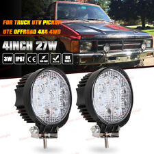 2x 4inch 27W Round SPOT LED Work Light Pods For Truck Jeep Off-Road ATV 4WD UTE