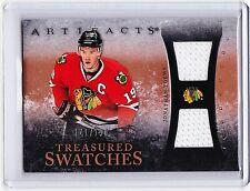 JONATHAN TOEWS 10-11 UD ARTIFACTS TREASURED SWATCHES DUAL GAME USED JERSEYS#/150